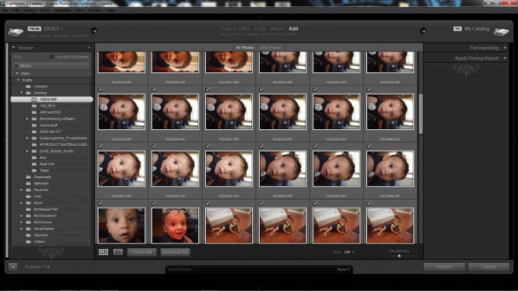 Lightroom 3 Import