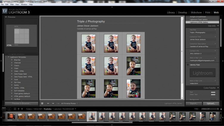 Lightroom 3 Web