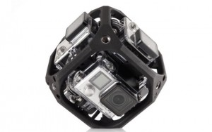 GoPro six-camera spherical array